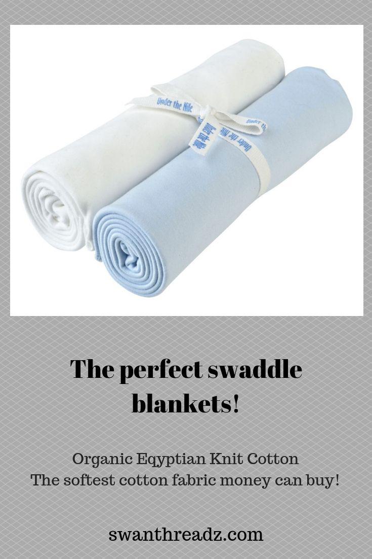 Swaddle Blanket Set Of Blue White Organic Egyptian Cotton Baby Blankets Swan Threadz Swaddle Blanket Set Cotton Baby Blankets Swaddle Blanket
