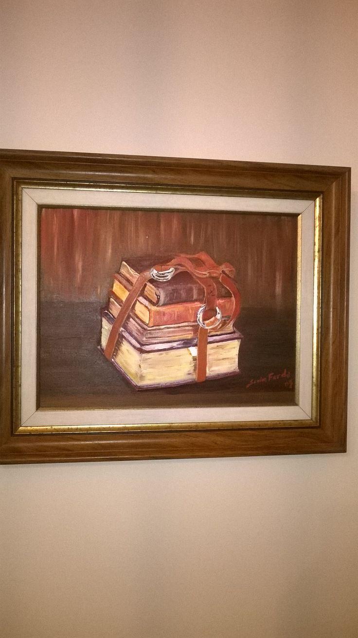 #yağlıboya #paintoil #eski kitaplar #tablo #eskilerden