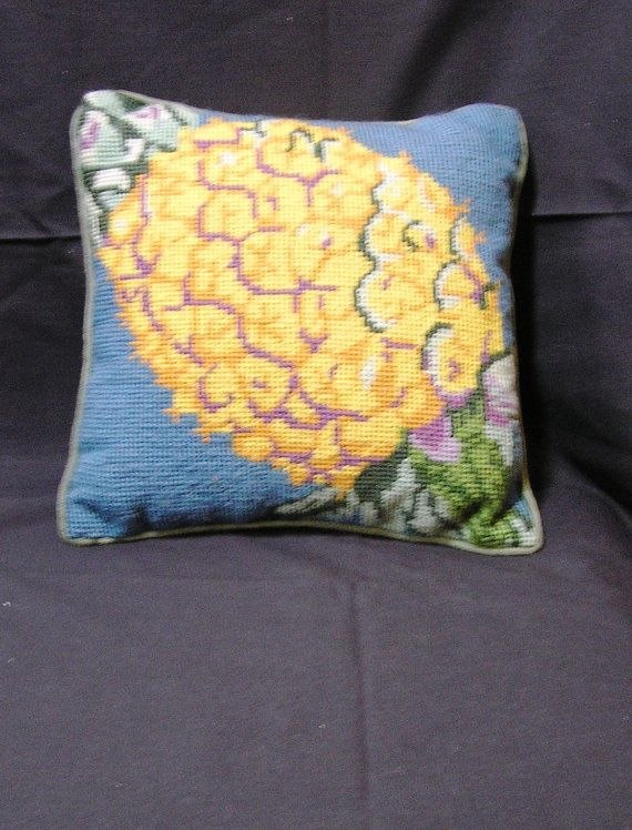 Vintage Needlepoint Pineapple Pillow with by VictorianWardrobe, $10.00