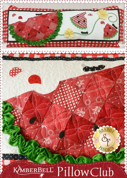 Join @Shabby Fabrics' Kimberbell Pillow Club to receive a kit each month of the year to create a unique and cute pillow!