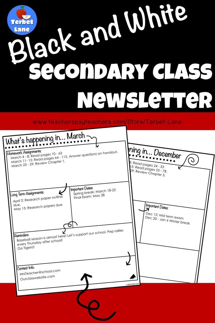 Editable secondary high school class newsletter template editable secondary high school class newsletter template newsletter templates high school students and high school m4hsunfo