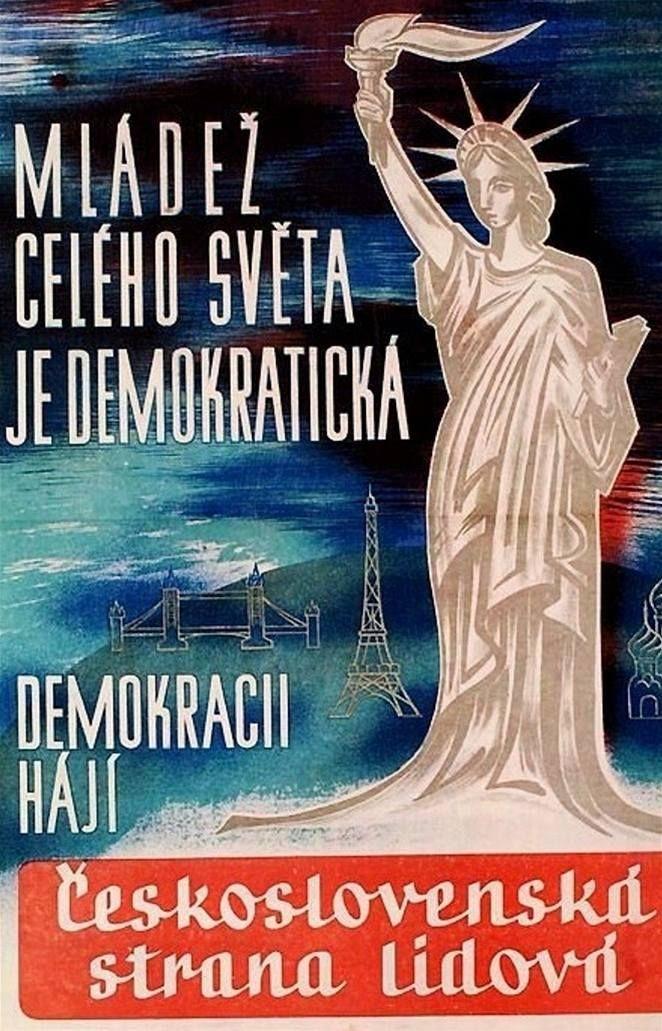 Plakát čsl. strany lidové - demokratická mládež