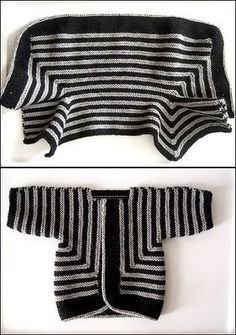 Baby surprise jacket   Elizabeth Zimmermann - the classic of all classics. You can't understand how it will all come together until you're done. Everyone should make at least ONE.