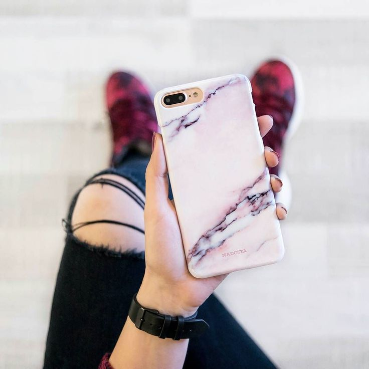 Pink Marble iPhone Case by Madotta | This stylish marble case is now available for iPhones plus Samsung Galaxy S devices. Made with love in the UK. International shipping available. Stylish iPhone 7 Cases and Covers #madotta View more designs at https://madotta.com/collections/marble-iphone-cases/?utm_term=caption+link&utm_medium=Social&utm_source=Pinterest&utm_campaign=IG+to+Pinterest+Auto