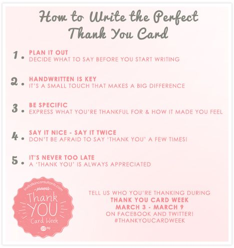 how to write the perfect thank you card thankyoucardweek