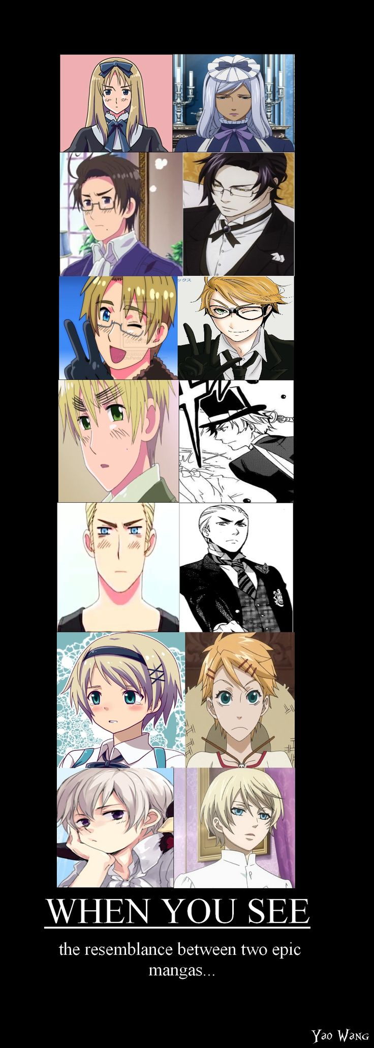 Black butler vs hetalia Right now im halfway through both animes and trying to decide which one to watch now... I knida feel like watching Hetalia, but i also wanna look at Sebastian.... T T-TT