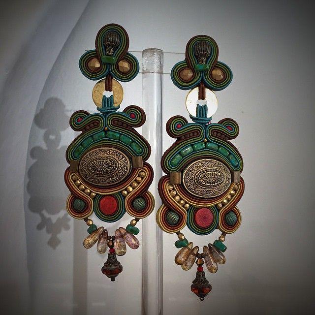 Tuscany. #doricsengeri #earrings #longearrings #clips #statement #green #design…