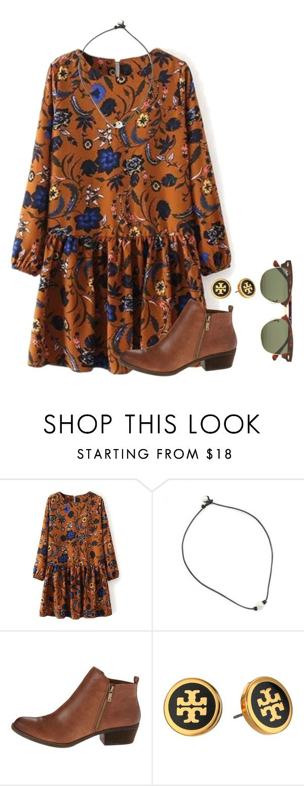 """Simple winter/fall outfit:)"" by flroasburn ❤ liked on Polyvore featuring Lucky Brand, Tory Burch and Ray-Ban"