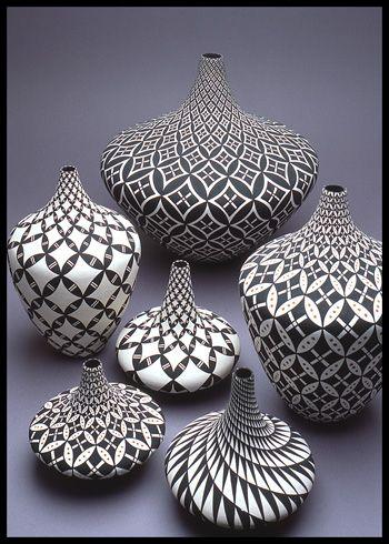Dorothy Torivio group. Acoma Pueblo pottery