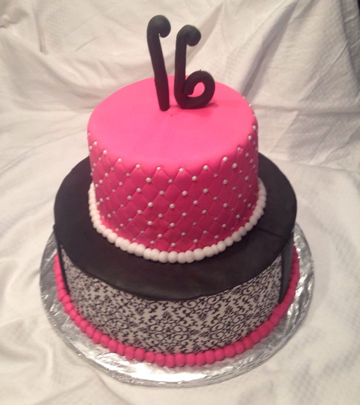 16th Birthday Treats: Sweet 16 Birthday Cake For My Girl!