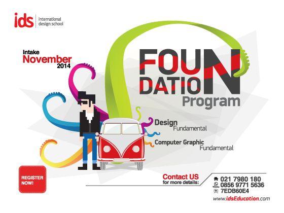 IDS   International Design School menyediakan Foundation Program untuk siswa SMA/sederajat yang ingin melanjutkan pendidikan di bidang industri kreatif (Animasi, Desain dan Film). Info : http://bit.ly/1rjxVCE   #FoundationProgram #ArtandDesign www.idseducation.com
