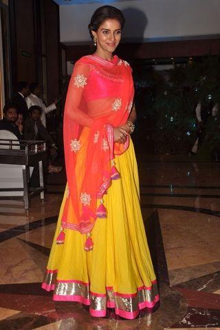 Asin Thottumkal at the Genelia D'Souza - Riteish Deshmukh Sangeet in...
