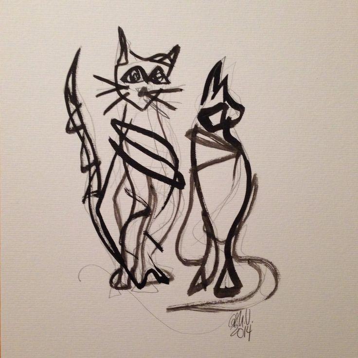 Blyant og blekk. ©Cathrine Ulrikson, Galleri Cat