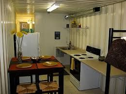 Shipping Container House Kitchen Interior Diy Built