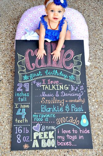 DIY Birthday Chalkboard Tutorial using foam board and metallic sharpies, perfect for