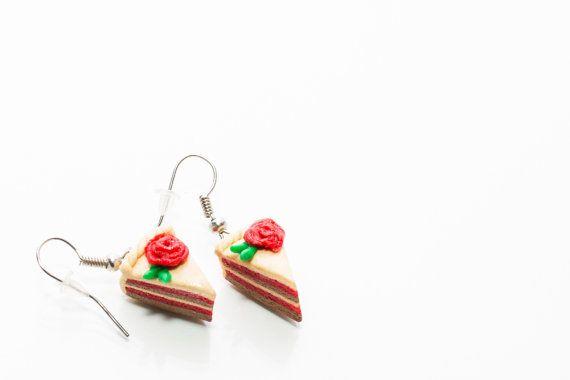 Oorbellen met oranje taart cake oorbellen sieraden snoep door IluLe