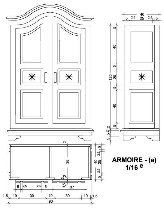 Stub Alsacienne - maison de poupée - vitrines miniatures  schemi per creare mobili rustici
