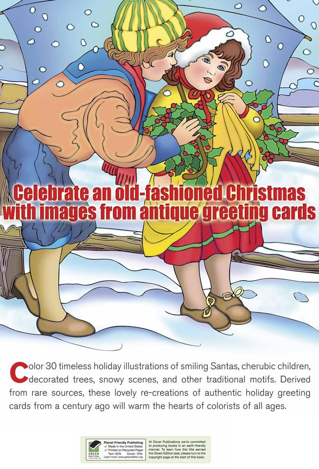 Lovely Publishing A Coloring Book 94 free old fashioned Christmas