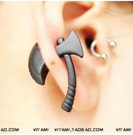 Axe_shaped_fake_gauge_plug_stud_earrings_1_pcs_earrings_2