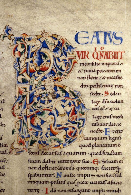 Bibliothèque municipale de Dijon - ms. 0014, f. 014 Bible / Centaure « cliché CNRS - IRHT »