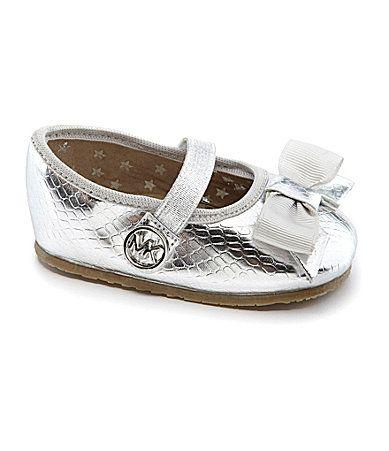 3dabd8f7084a MICHAEL Michael Kors Infant Girls Baby Grace Bow Crib Shoes  Dillards