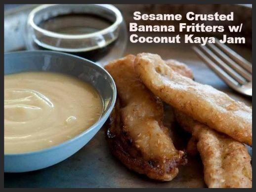 Banana Fritters with Coconut Kaya Jam | Recipe | Banana Fritters ...