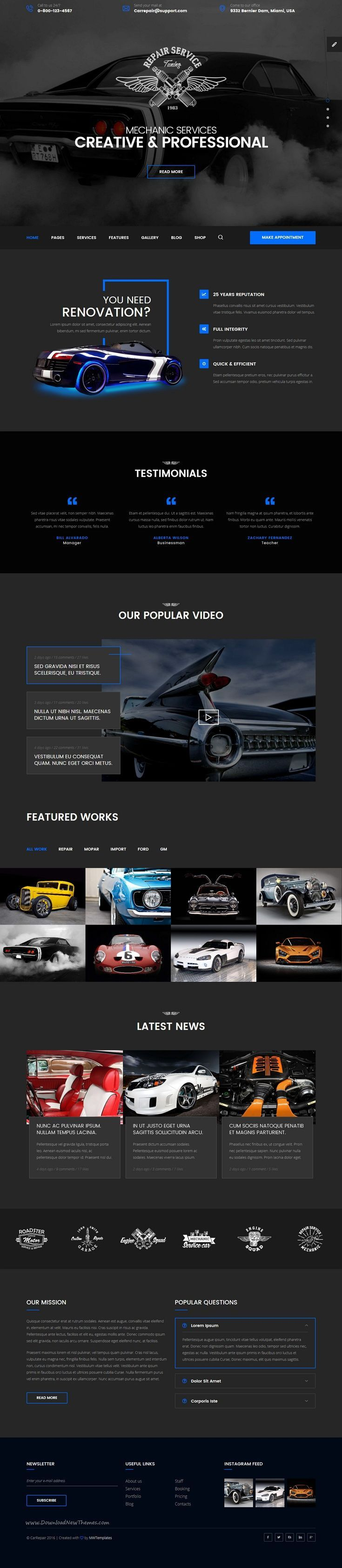 Mechanic is a new, clean and professional #HTML Template for #auto #car services, #workshops or auto parts shop website download now➩ https://themeforest.net/item/mechanic-car-repair-tuning-routine-maintenance-html-template-with-visual-builder/18948149?ref=Datasata Everybody with a business needs to have marketing platform that would provide a website, with lead capture up to 10K leads, sales funnels, play videos, and work on PC, Tablet and notepad for less than US$50.00 monthly fee. Join us…