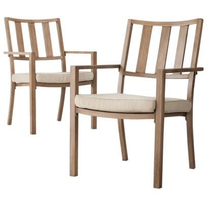 Threshold™ Holden 2 Piece Metal Patio Dining Chair Set TARGET, Wow.