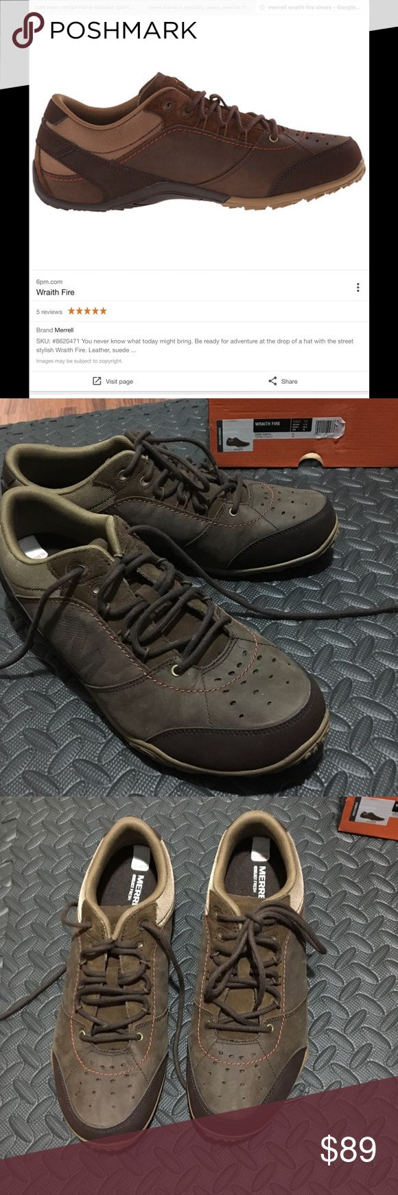 Merrill Wraith Fire Size 12 casual hiking shoes Merrill Wraith Fire Size 12 casual hiking shoes.new in box. Box does not come with original Top. Merrill Shoes Sneakers