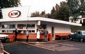 a&w root beer drive in ( I loved this place when I was a kid - they had the best root beer floats in the whole wide world - and the drive in was the grooviest! )
