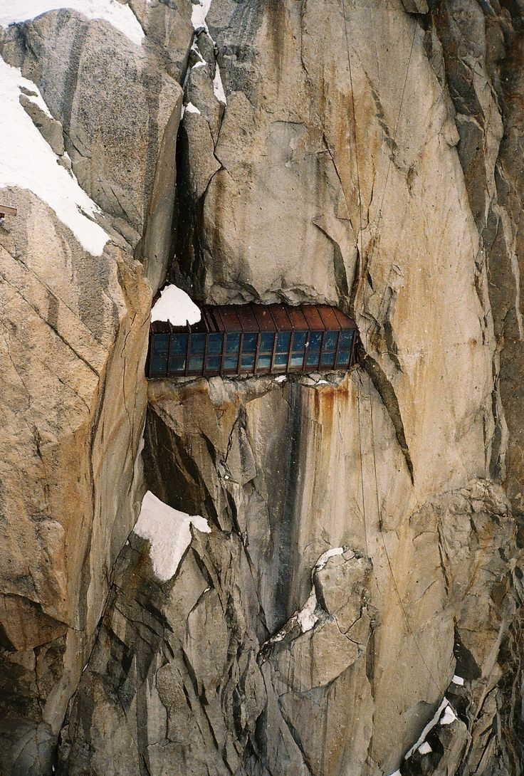 katherinesquier:  aiguille du midi viewing area, (chamonix, france).
