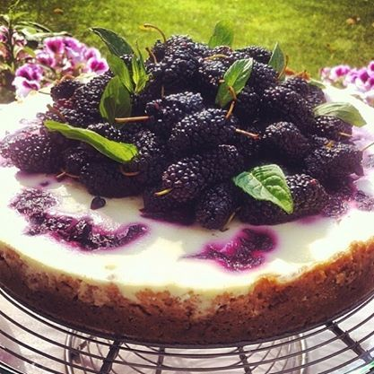 a #cheesecake like no other… #yummy with fruits of the forest :) #bytesizecatering @Pınar Altunsoy www.bytesizecatering.com