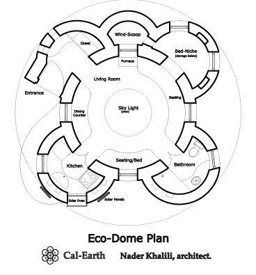 Le plan de la maison Moon Cocoon / Eco Dome