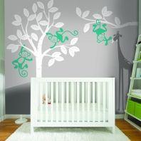 Monkey's in a tree sticker wall art