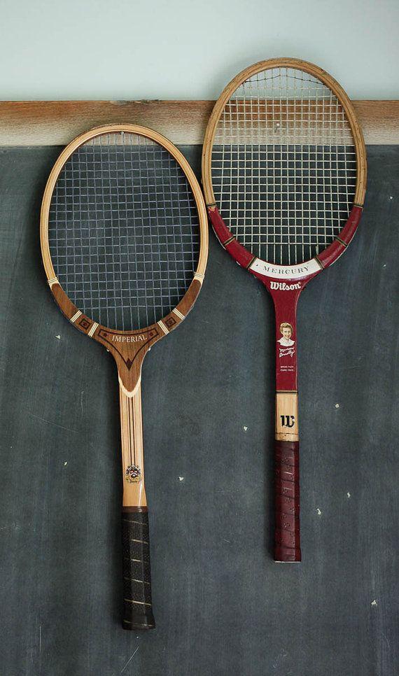 vintage tennis rackets: Vintage Tennis, Tennis Racket, Vintage Sports, The Sports, Tennis Vintage, Tennis Racquets, De Tennis, Vintage Racket, High Schools