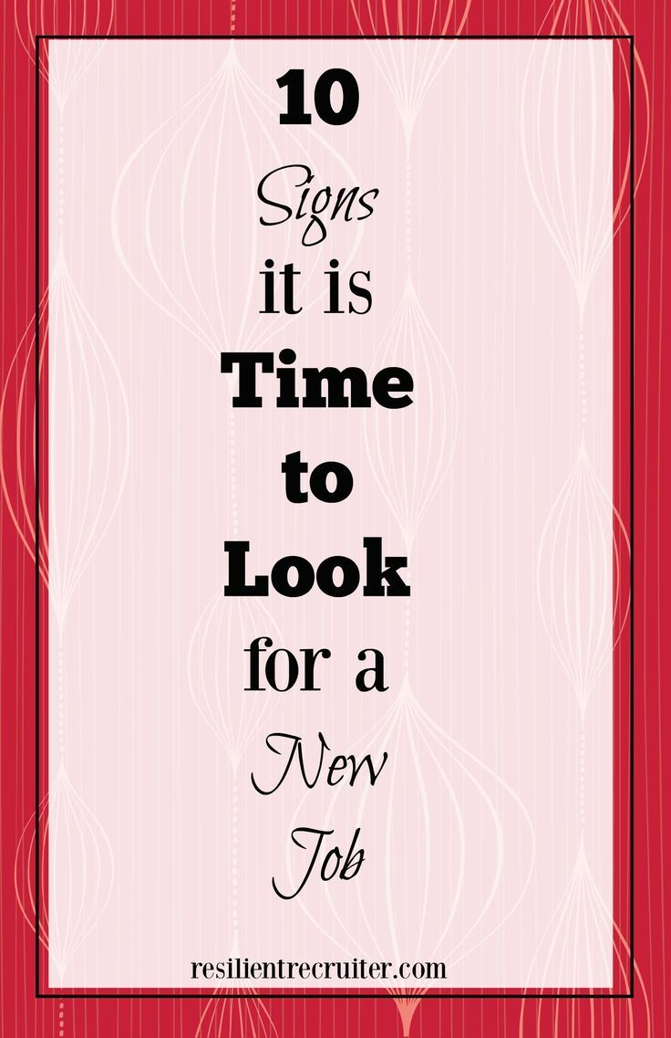 Lovely New Year, New Job? 10 Signs It Is Time To Look. Career ChangeCareer  AdviceJob ...