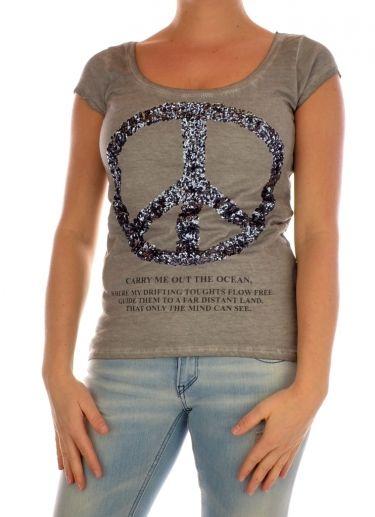 T-SHIRT SHORTSLEEVE DAMES DT FREE KEYLARGO grijs Key Largo | Expresswear.nl