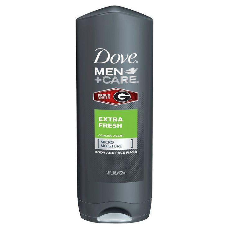 Dove Men+Care Georgia Bulldog Extra Fresh Body Wash 18 oz, Light Clear