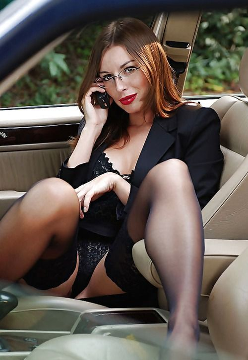 Hot Office Babes  Gatissima - Oudere Vrouwen, Auto -5207