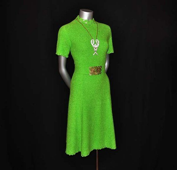 Sour Apple Green Early Vintage 60's Mod St by Planetclairevintage, $98.00