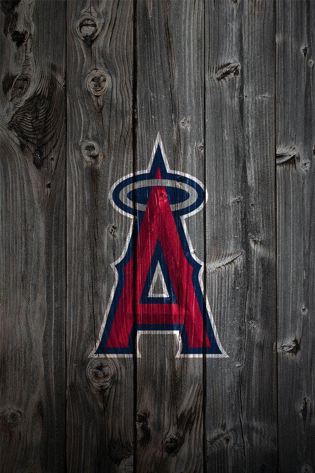 Anaheim Angels Wood iPhone 4 Background | Kristopher Legg | Flickr