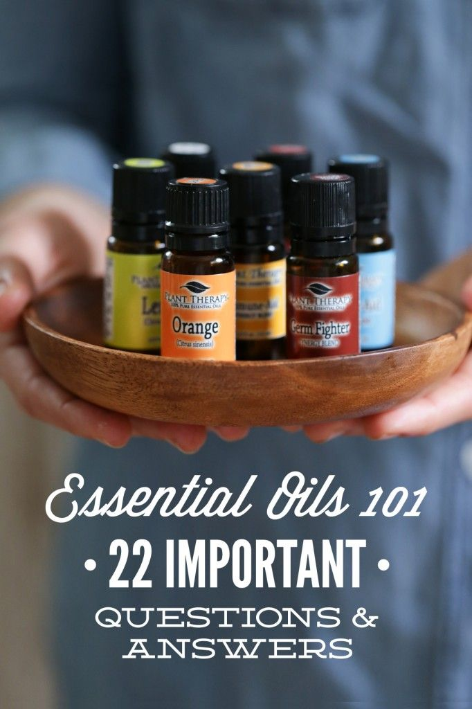 22 important answers to your most-asked essential oil questions: Should oils be used around kids/pets? What about ingestion-is it safe? Resources for learning more about essential oils? And more! Answered by a team of four aromatherapists from Plant Therapy.
