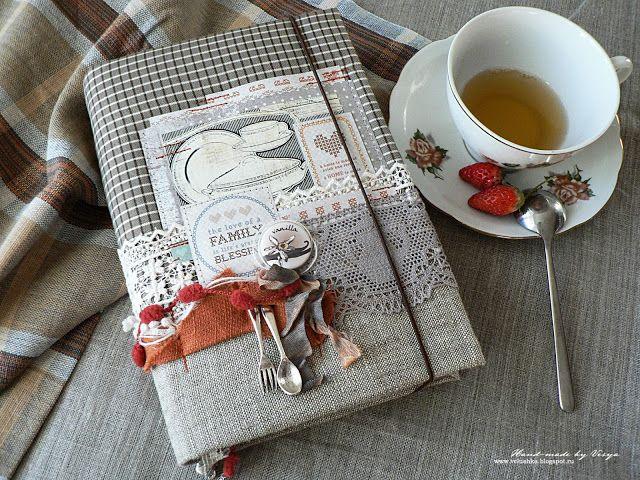ScrapTherapy *Вдохновение*: Мастер-класс. Новая кулинарная книга из старой.