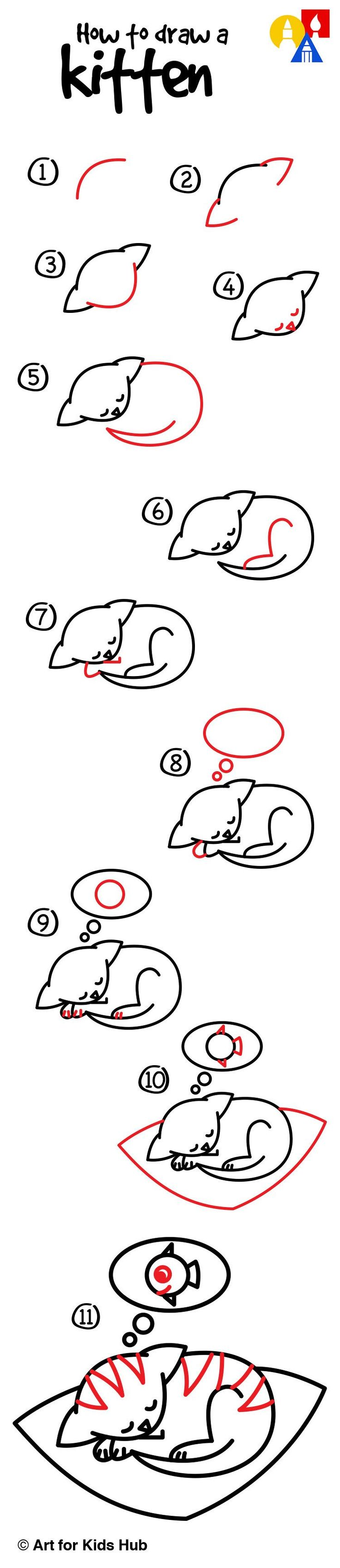 62 best afkh step by steps images on pinterest easy drawings how to draw the cutest kitten ever art for kids hub drawing stepcat altavistaventures Image collections