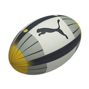 Puma - v5.08 Rugby Ball White Grey Yellow High quality training ball for club and junior rugby. A pre-impregnated multi textile lamination backing gives the ball extra shape and circumference stability. The Everflex material has been heat tre http://www.comparestoreprices.co.uk/rugby-equipment/puma--v5-08-rugby-ball-white-grey-yellow.asp
