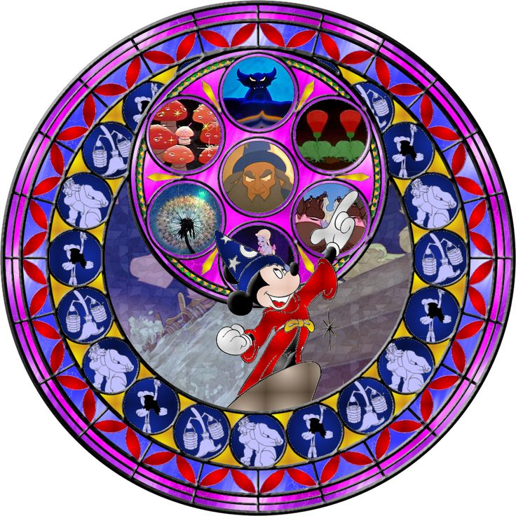 Fantasia Stained Glass by Maleficent84.deviantart.com on @deviantART