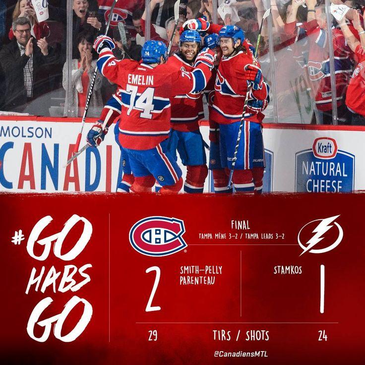 Match#5 Victoire du Canadien  3-2 TBY dans la série.