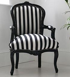 Black and White Hattie Chair
