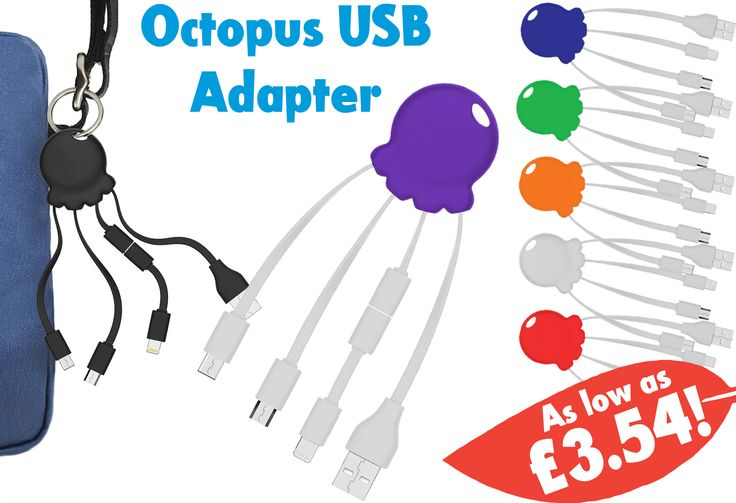 A necessity for any modern day person, our new Octopus USB Charger is a product your customers would be mad to give up... https://www.promoparrot.com/octopus-usb-adapter.html #charger #promo #USB #octopus