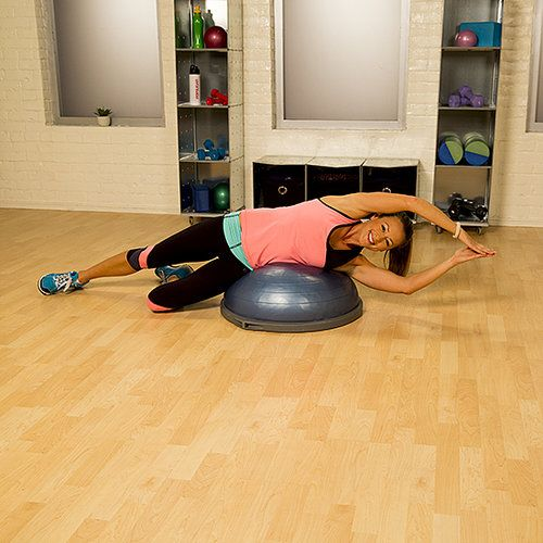 Bosu Ball Oblique Crunches: Fitness, Bosu Workout, Workout